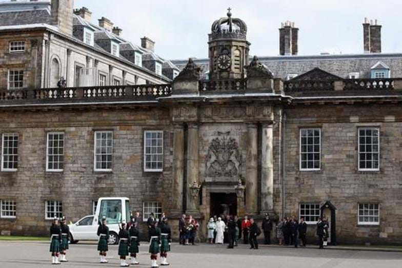 Palace of Holyroodhouse, Edimburgo, Escócia